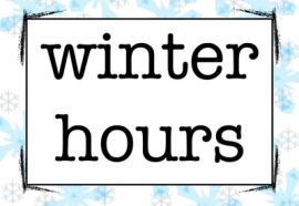 Winter Hours!
