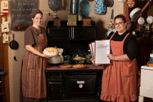 Servers In Colonial Dress